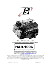 HAR 1006 psi instructions standalone wiring harness ls wiring ls TH400 Wiring Harness Diagram at panicattacktreatment.co